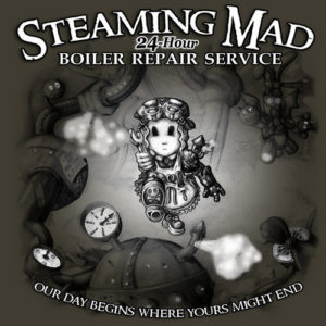 Steaming Mad Boiler Repair design by Myke Amend
