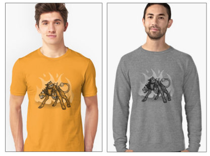 Steampunk Cerberus Design at RedBubble
