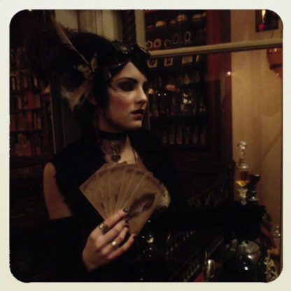 The Sepia Stains Tarot by Bethalynne Bajema Modeled here by Charly Bivona