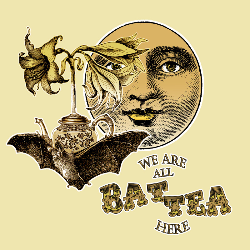 The Attic Shoppe Trading Company Tea Bats Design at Threadless.com