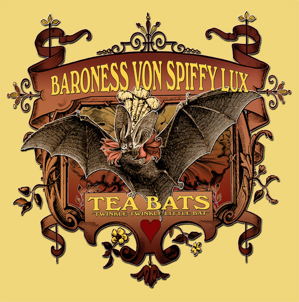 The Attic Shoppe Trading Company Tea Bats Tee Shirt Design at Threadless.com