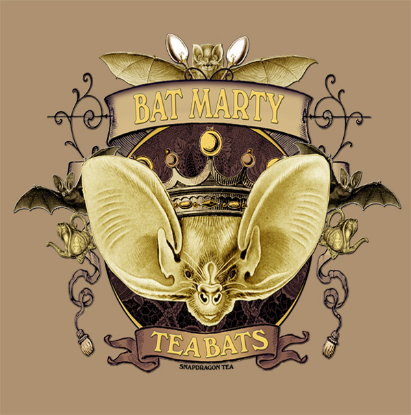 The Attic Shoppe Trading Company Tee Shirt Designs Bat Marty at Threadless.com