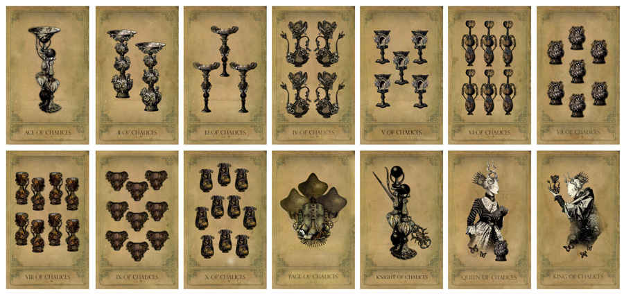 The Sepia Stains Tarot Chalices Preview