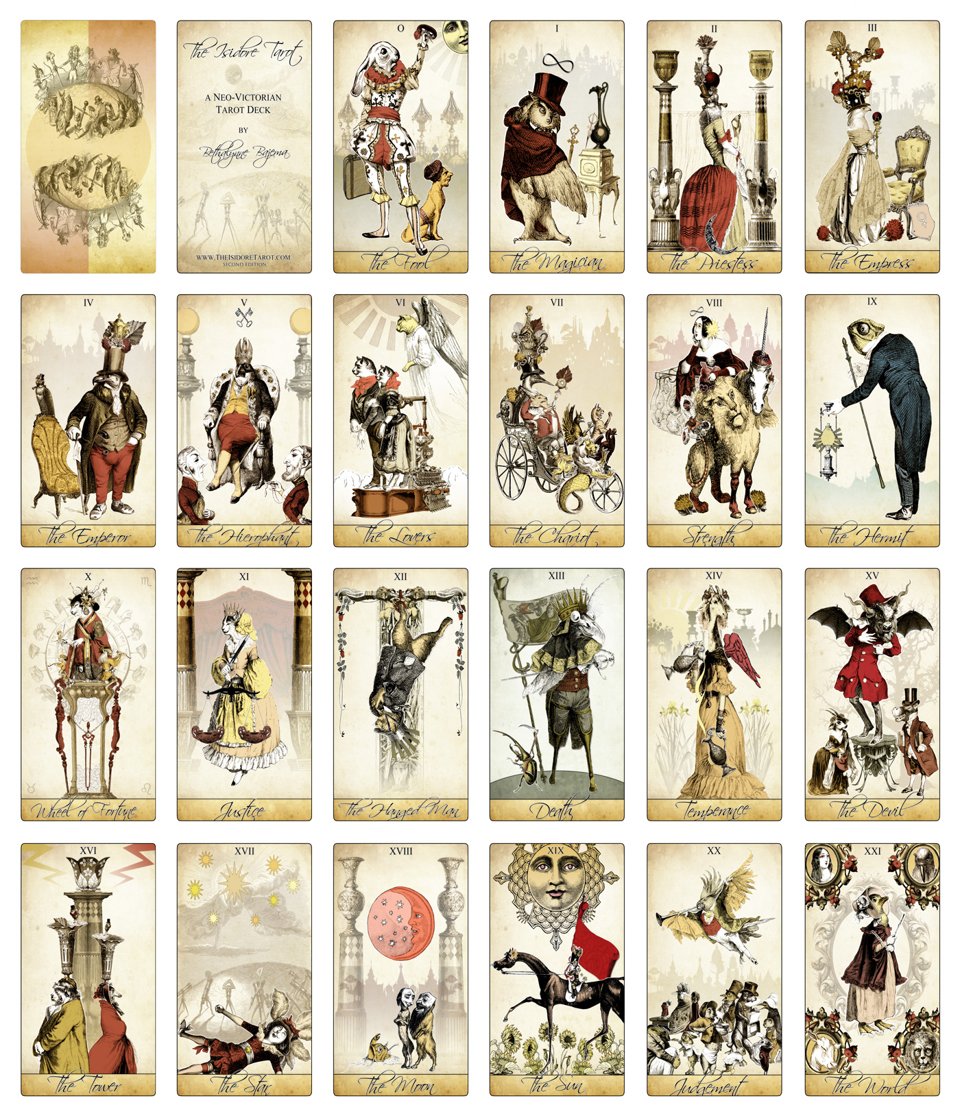 The Isidore Tarot Major Arcana fro the Attic Shoppe Trading Company