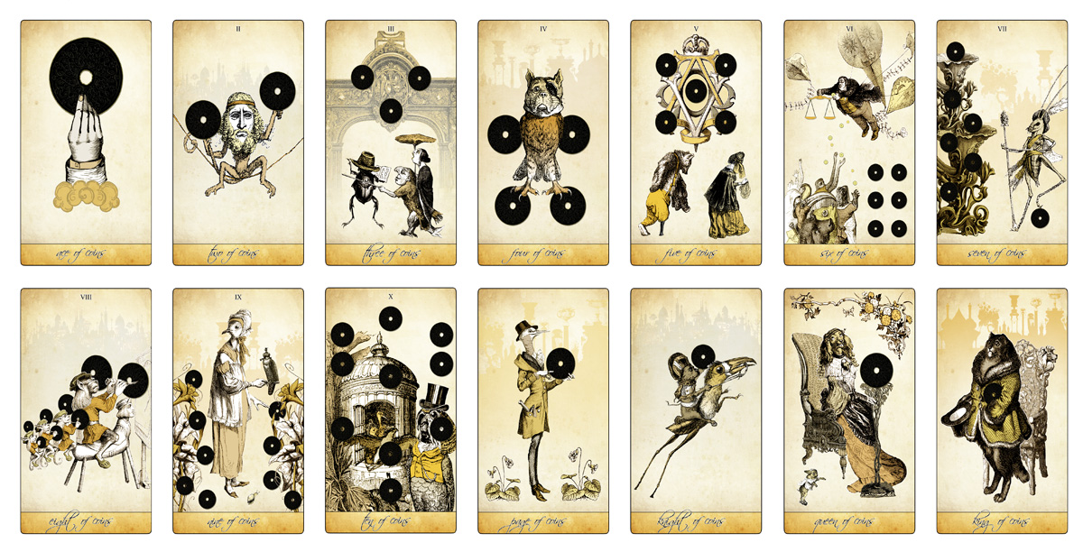 The Isidore Tarot - Minor Arcana - Coins - The Attic Shoppe