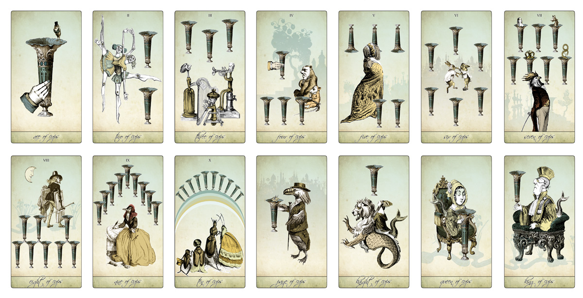 The Isidore Tarot - The Minor Arcana Cups - The Attic Shoppe