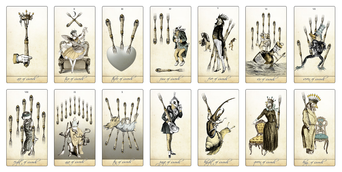 The Isidore Tarot - The Minor Arcana Swords - The Attic Shoppe