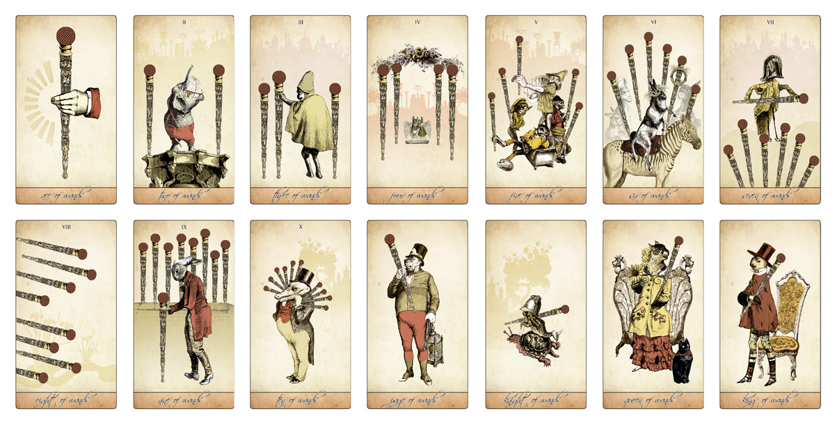 The Isidore Tarot - The Minor Arcana Wands - The Attic Shoppe