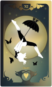 The Butterfly Circus Lenormand Deck - The Moon - by Bethalynne Bajema