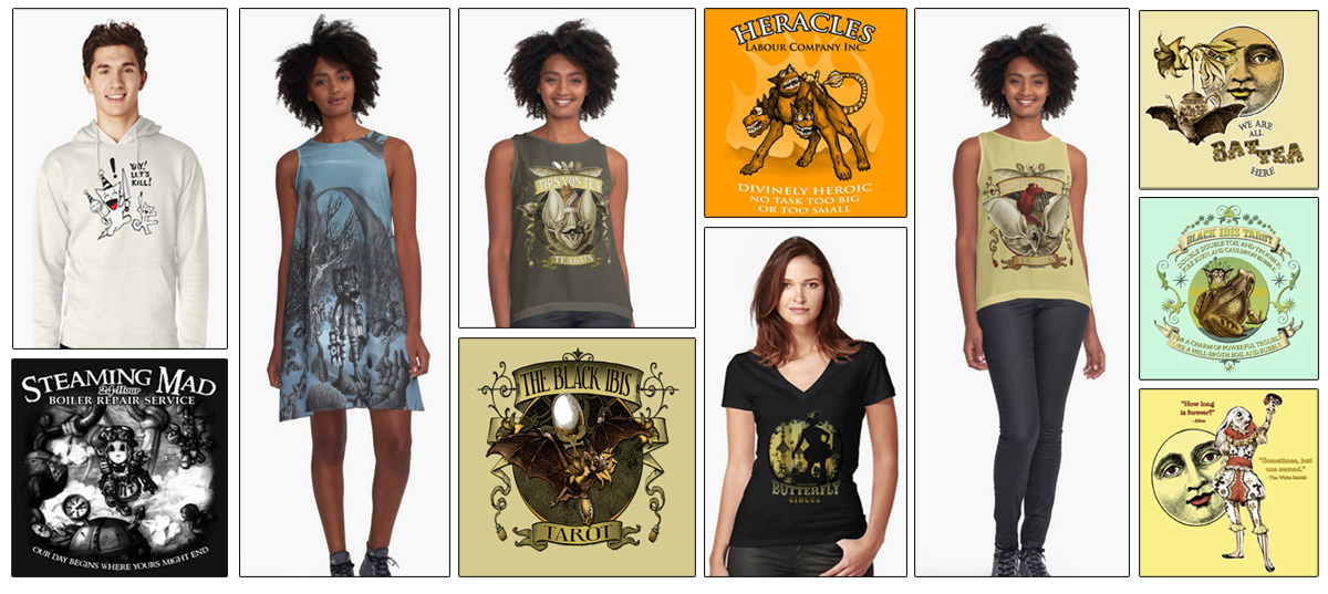 The Attic Shoppe Trading Company and Attic Dry Goods on RedBubble