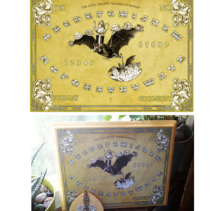 The Tea Bats Spirit Board Design by the Attic Shoppe Trading Company