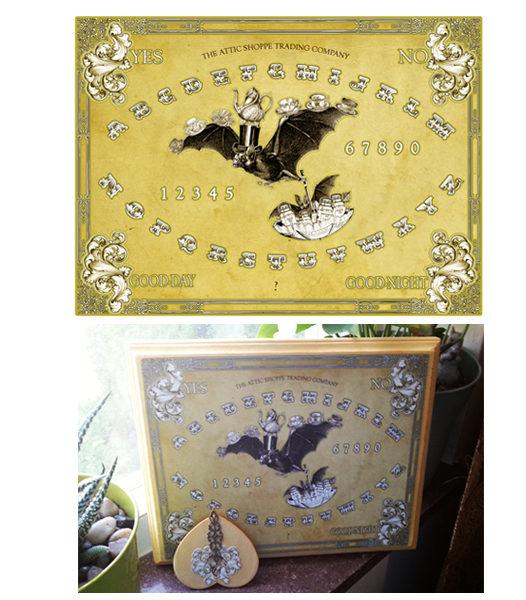 The Tea Bats Spirit Board Design by the Attic Shoppe Trading Company