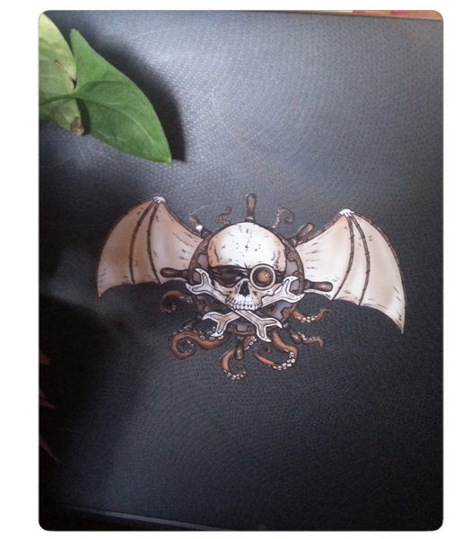 Airships and Tentacles Decal by Myke Amend available through the Attic Shoppe