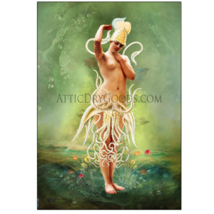 The Water Nymph Seafoam Art Print by Bethalynne Bajema