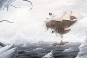 Myke Amend - Airships and Tentacles Art Print