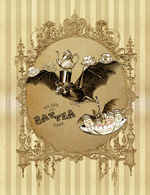 The Tea Bats Art Prints