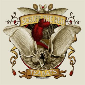 Tea Bats - Scruff the Red - Design by Bethalynne Bajema