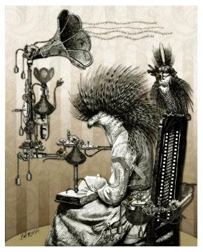 Professor Vogels Reading Machine by Bethalynne Bajema