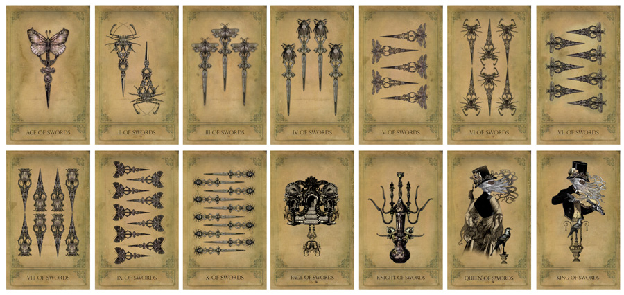 The Sepia Stains Tarot Swords Preview