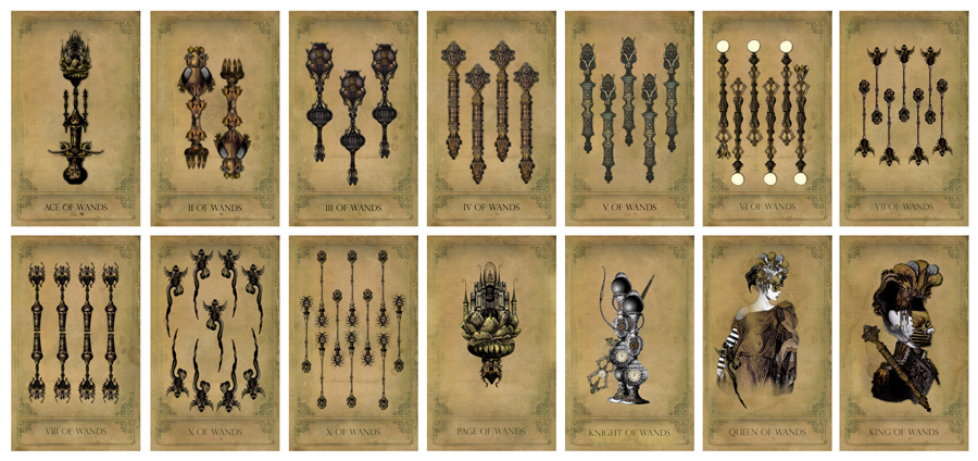The Sepia Stains Tarot Wands Preview