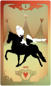 The Butterfly Circus Lenormand Deck - The Rider - by Bethalynne Bajema
