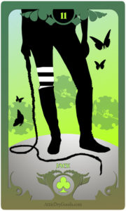 The Butterfly Circus Lenormand Deck - The Whip - by Bethalynne Bajema