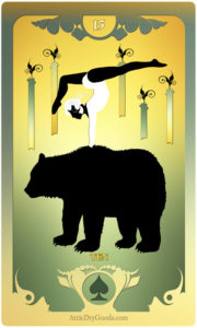 The Butterfly Circus Lenormand Deck - Bear - by Bethalynne Bajema