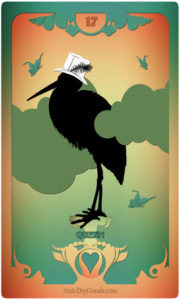The Butterfly Circus Lenormand Deck - Stork - by Bethalynne Bajema
