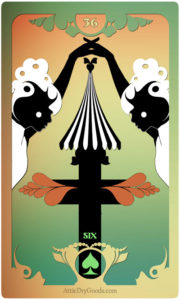 The Butterfly Circus Lenormand Deck - The Cross - by Bethalynne Bajema