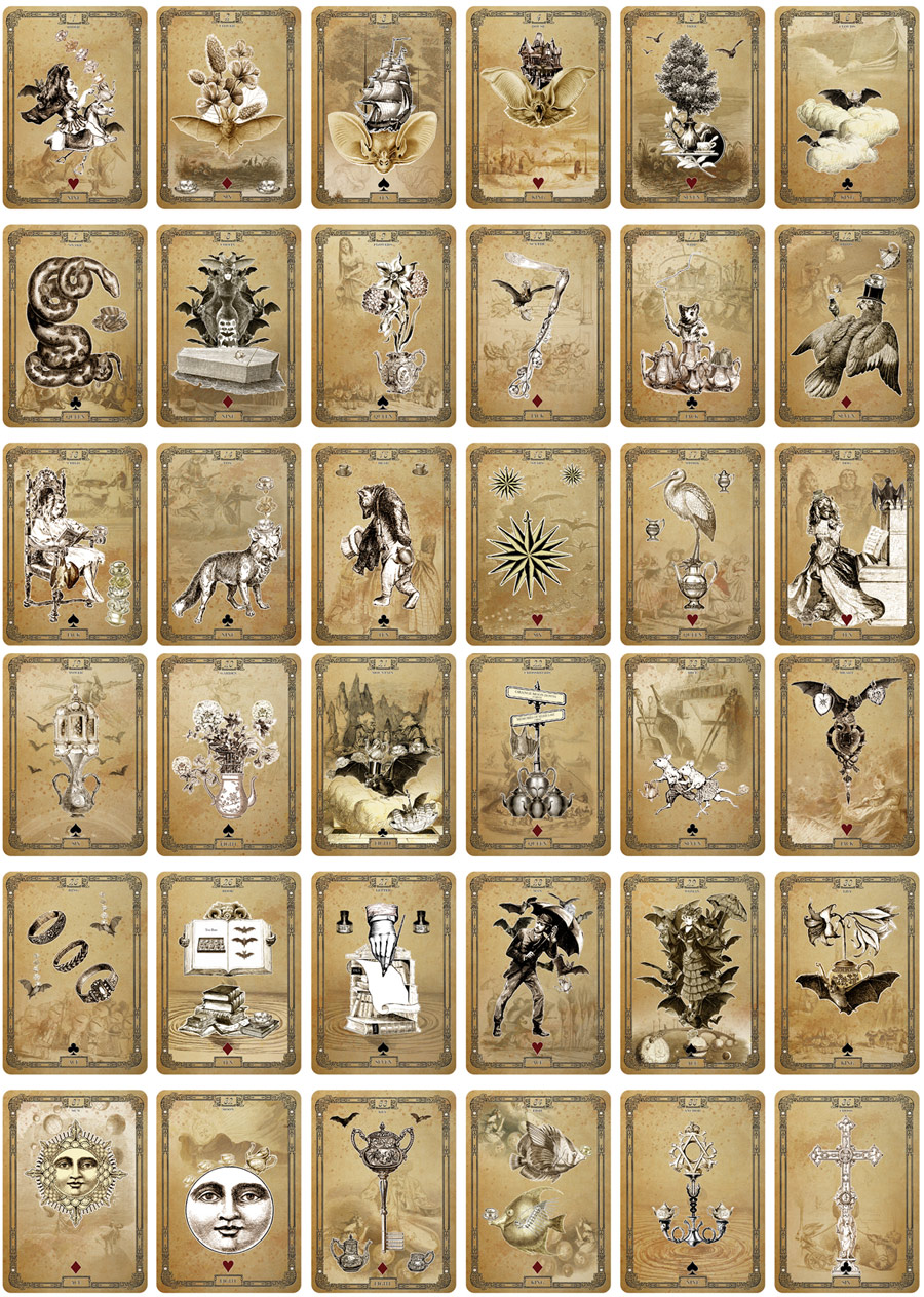 Attic Cartomancy - The Tea Bats Lenormand Deck - by Bethalynne Bajema