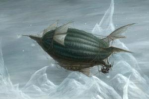 Myke Amend - Airships and Tentacles Art Print
