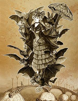 The Tea Bats Art Prints